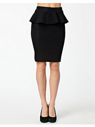 Only Ida Peplum Knee Skirt
