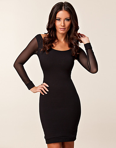JUHLAMEKOT - QUONTUM / MESH LONG SLEEVE STRAP DRESS - NELLY.COM