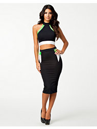 Quontum Lime/White 2 Piece Dress