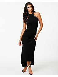 Quontum Slinky Jersey Lace Fishtail Dress