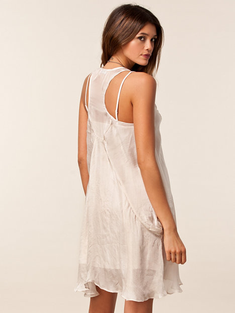 Parachute Tank Dress Hunkydory Bone White Dresses