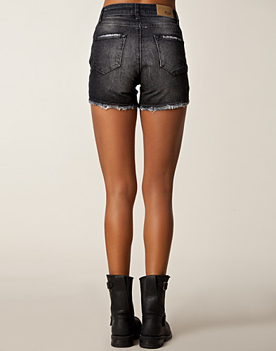 HOSEN & SHORTS - SORT DENIM / COURTNEY SHORTS - NELLY.DE