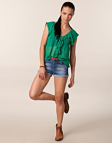 BYXOR & SHORTS - SORT DENIM / COURTNEY SHORTS - NELLY.COM