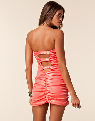 FESTKJOLER - TE AMO / BUSTIER 3 DIAMOND STRAP DRESS - NELLY.COM
