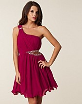 CUT OUT TRIM RUFFLE DRESS