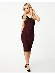 Closet V-Neck Bodycon Midi Dress