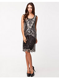 Frock and Frill Sequin Scalloped Dress