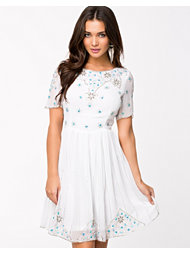 Frock and Frill Embellished Lace Skater Dress