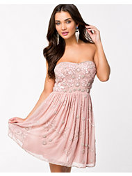 Frock and Frill Embellished Bandeau Skater Dress