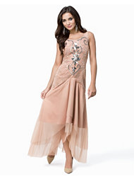 Frock and Frill Embellished Prom Maxi Dress