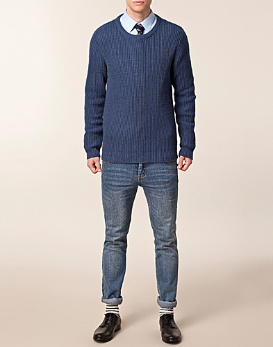 TRÖJOR - SELECTED HOMME / SALVAGE CREW NECK KNIT - NELLY.COM