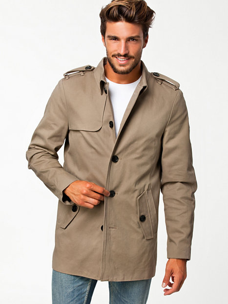 sylvester sb trench coat selected homme taupe jackets and coats clothing men nlyman. Black Bedroom Furniture Sets. Home Design Ideas
