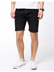 Selected Homme Cash Black Denim Shorts
