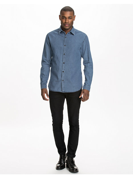 edward shirt selected homme light blue shirts