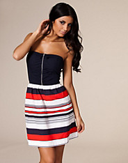 Vero Moda - Stripe Denim Tube Dress