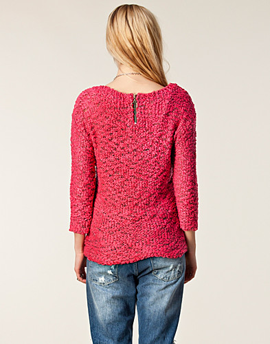 TRÖJOR - VERO MODA / TWEED WIDE BOATNECK KNIT - NELLY.COM