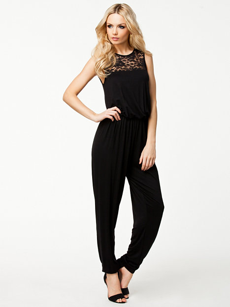 jani lace jumpsuit vero moda black jumpsuit clothing women. Black Bedroom Furniture Sets. Home Design Ideas