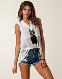Saint Tropez - Sleeveless Chiffon Blouse