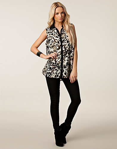 TOPPAR - SAINT TROPEZ / TOP WITH LEOPARD PRINT - NELLY.COM