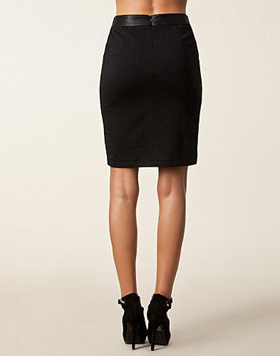 KJOLAR - SAINT TROPEZ / PU AND KNIT SKIRT - NELLY.COM