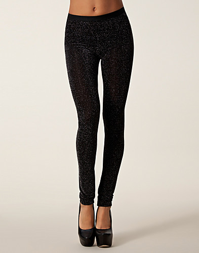 BYXOR & SHORTS - FILIPPA K / GLITTER LEGGINS - NELLY.COM
