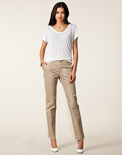 BYXOR & SHORTS - FILIPPA K / LUISA COTTON SLACKS - NELLY.COM