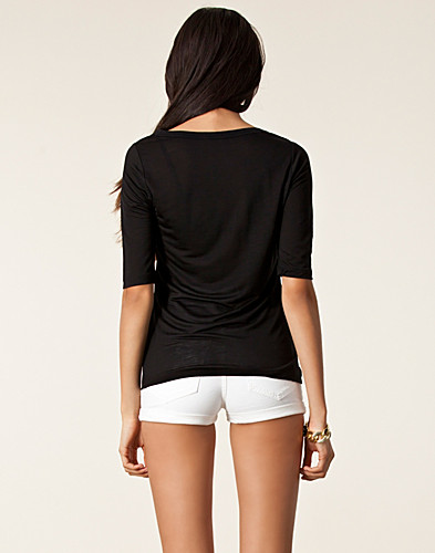 TOPPAR - FILIPPA K / TENCEL MIDSLEEVE TOP - NELLY.COM