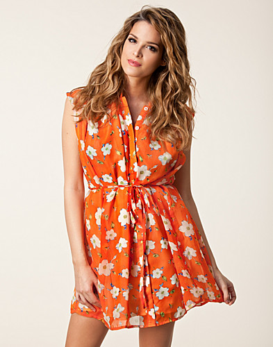 PARTY DRESSES - FOUNT / DAISY PRINT CHIFFON DRESS - NELLY.COM