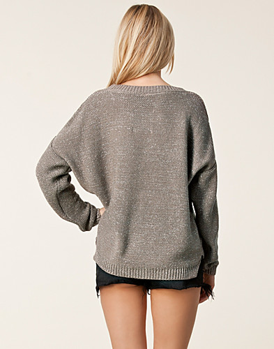 TRÖJOR - OBJECT / FOILLY KNIT PULLOVER - NELLY.COM