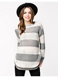 Trøjer, Mia Striped Long Knit, Object - NELLY.COM