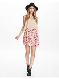 The Style Floral Pleat Skirt