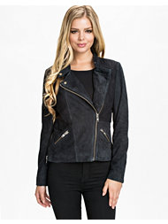 Maison Scotch Suede Biker Jacket