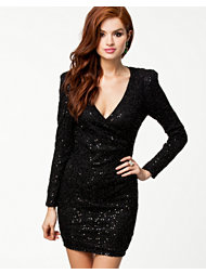 Ax Paris Sequin Wrap Over Dress