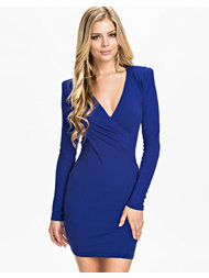 Ax Paris Long Sleeve V Front Dress