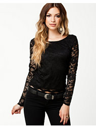 Ax Paris Long Sleeve Lace Top