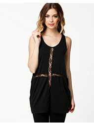 Ax Paris Laser Cutout Cross Top