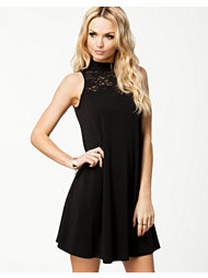 Ax Paris Lace Neck Detail Swing Dress
