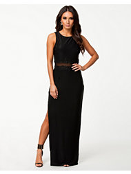 Ax Paris Embellished Mesh Waist Maxi Dress