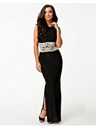 Ax Paris Contrast Lace Maxi Dress