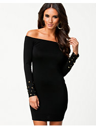 Ax Paris Off Shoulder Sleeve Detail Dress
