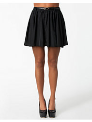 Ax Paris Belted Kick Out Skirt