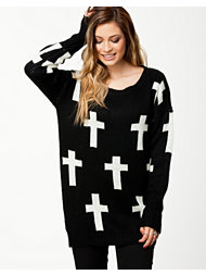 Ax Paris Monochrome Cross Jumper