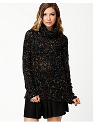 Ax Paris Polo Neck Speckle Jumper