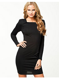 Ax Paris Square Neck L/S Bodycon Dress