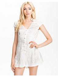 Ax Paris Flower Button Upfront Playsuit