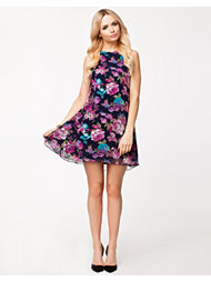 Ax Paris Chiffon Floral Swing Dress