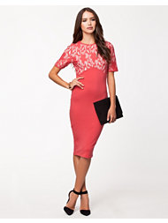 Ax Paris Contrast Lace Bodycon Dress