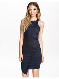 Ax Paris Cut Neck Plain Wrap Dress