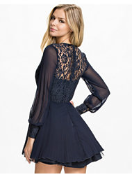 Ax Paris Lace Full Sleeve Skater Dress