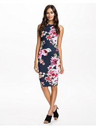 Ax Paris Print Cut In Neck Dress